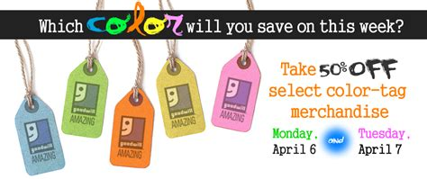 goodwill tag colors events and promotions at goodwill donation and store