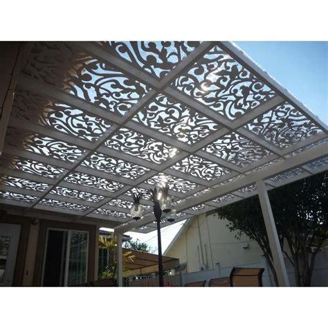 acurio latticeworks ginger dove     ft white vinyl