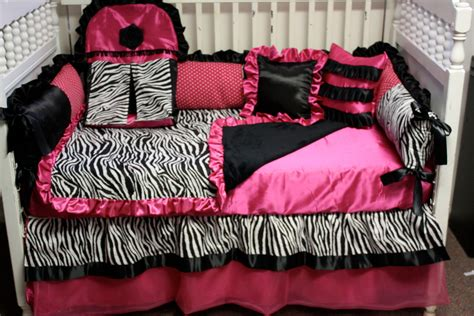 Pink And Black Zebra Bedding Free Wallpaper