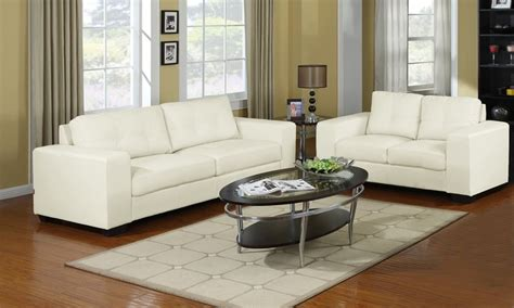 Ivory Leather Sofa And Loveseat by Ivory Leather Sofa And Loveseat Groupon Goods