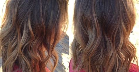 Long Bob Hair Cut And Caramel Balayage Done By Stylist