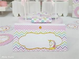 Carteles buffet Cumpleaños Unicornio Merbo Events