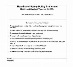10 safety statement templates to download sample templates With health and safety statement of intent template
