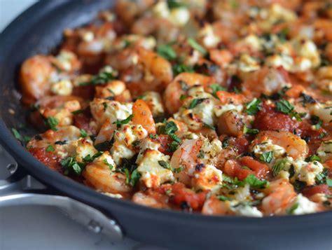 greek shrimp  tomatoes feta    chef