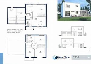 Plan Maison A Etage : plan maison contemporaine avec etage ~ Melissatoandfro.com Idées de Décoration