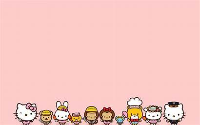 Kitty Hello Desktop Background Sanrio Backgrounds Wallpapers