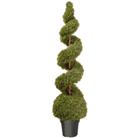 national tree company 60 in cedar spiral artificial tree with and green growers