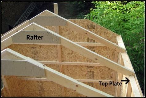 how to make a rafter for a shed getting back to setting the shed kit s rafters once i got