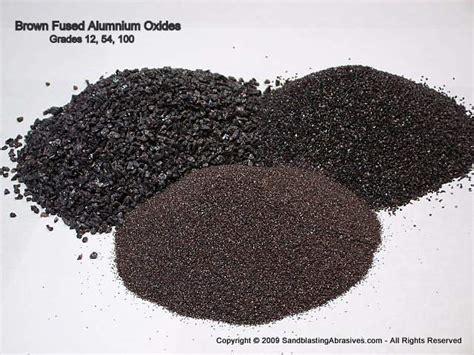 aluminum oxides brown  white abrasive media