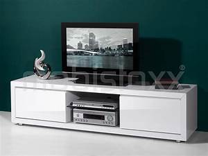 Meuble Tv Hifi : meuble tv hifi blanc laque solutions pour la d coration int rieure de votre maison ~ Teatrodelosmanantiales.com Idées de Décoration