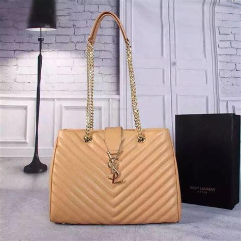 ysl saint laurent monogram shopping bag apricot ysl   designer replica handbags
