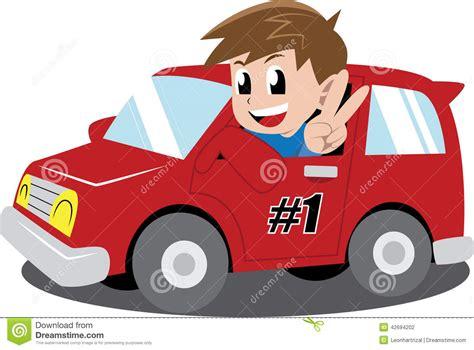 Boy In A Car Stock Vector