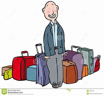 Baggage Luggage Clipart Handling Surrounded Much Clip