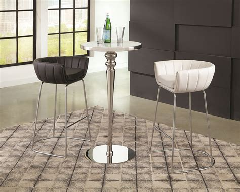 Modern dining chairs are a broad definition encompassing a huge variety of modern kitchen chairs including those with and without arms. 18200 White Modern Low Back Bar Stool   Las Vegas ...