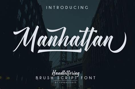 manhattan script font befontscom