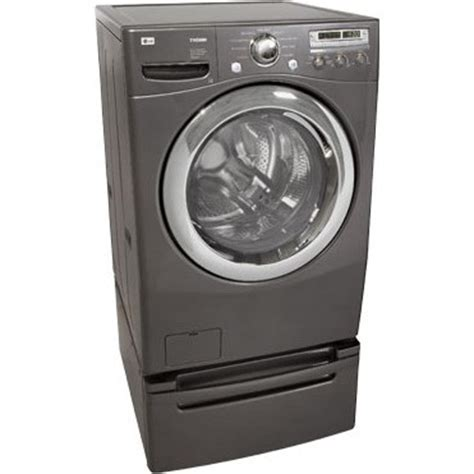 "LG : WM2455HG 27"" Front Load XL Washer   Pearl Gray"
