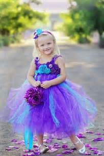 turquoise and purple bridesmaid dresses peacock purple and turquoise flower tutu dress wedding birthday headband on etsy