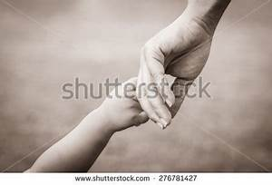 Hands Mother Child Vintage Tone Stock Photo 300869501 ...