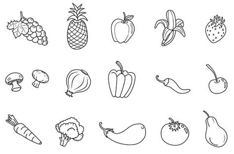 fruit  vegetables coloring printables coloring pages