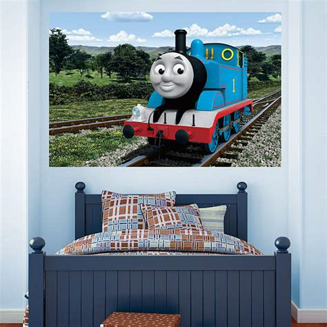 thomas the tank engine countryside mural thomas and