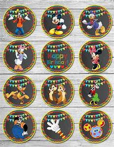 Mickey Mouse Clubhouse Cupcake Toppers Chalkboard // Mickey