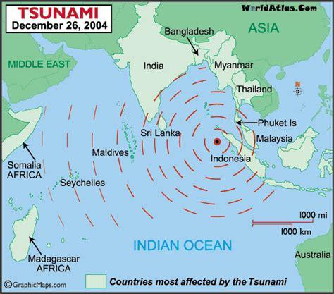 tsunami map december  information page