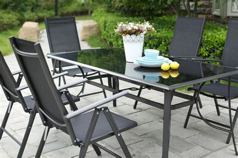 table et chaises jardin awesome table de jardin aluminium et chaise photos