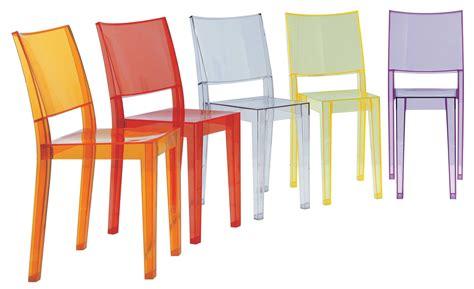 kartell chaises chaise empilable la transparente polycarbonate