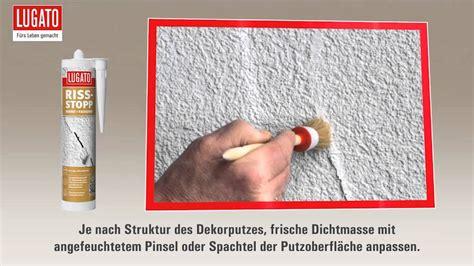Risse Im Putz Beseitigen by Risse In Putz Reparieren Und Abdichten Mit Riss Stopp Wand