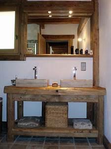 Pinterest o le catalogue d39idees for Meuble salle de bain bois rustique
