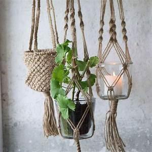 Pot Pour Plante : suspension pour plante en corde hemoon maison d coration ~ Teatrodelosmanantiales.com Idées de Décoration