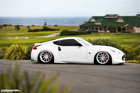 slammed nissan built to order peter 39 s slammed 370z stancenation