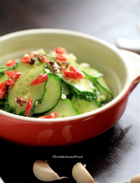 spicy cucumber salad spicy pickled cucumbers salad china sichuan food