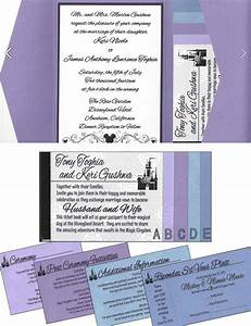 keri tony39s disneyland ticket book wedding invitations With disney wedding invitations clintons