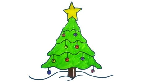 diy christmas tree drawings     kids