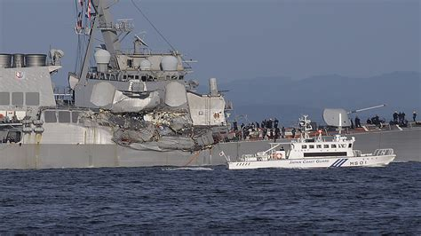 Ship Collision by Japan Investigates Delay In Reporting Us Navy Ship Collision