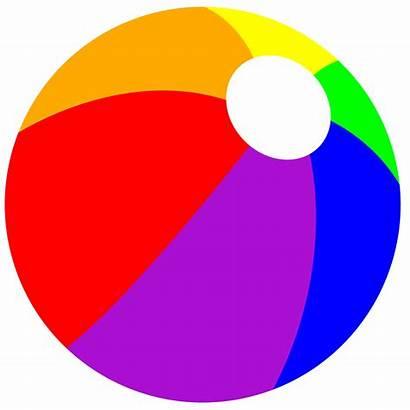 Beach Clip Balls Cliparts Ball Rainbow Summer