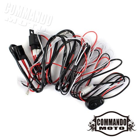 Auto Driving Lamp Fog Light Wiring Loom Harness Kit