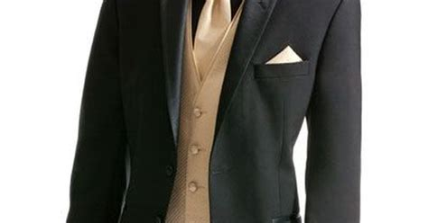 Prom Suit Black And Beige