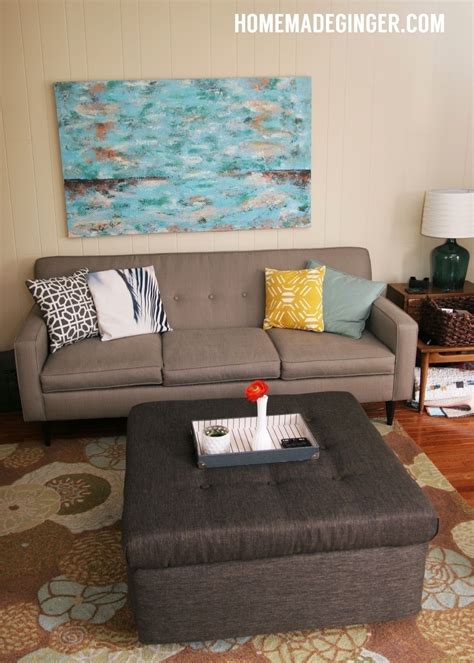 How To Make An Ottoman Out Of A Table by Coffee Table Turned Ottoman 183 How To Make A Stool
