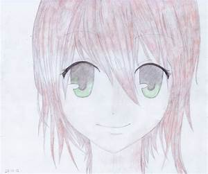 anime girl pink hair green eyes - DriverLayer Search Engine