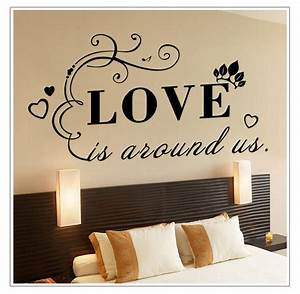 wall stickers english quote quotlove is around us quot vinyl With vinyl lettering wall art
