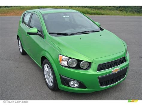 2015 Dragon Green Metallic Chevrolet Sonic Lt Hatchback