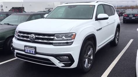 atlas volkswagen white 2018 atlas r line sel pure white youtube