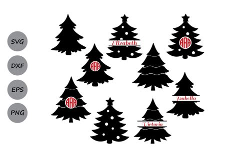 Free christmas tree vector download in ai, svg, eps and cdr. Christmas tree svg, Christmas tree Monogram Svg, Christmas ...