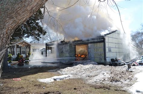 Clarendon Man Feels Lucky To Escape Garage Fire