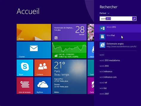 bureau windows 8 1 windows 8 1 lancer une application de bureau médiaforma