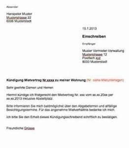 Kündigungsschreiben Wohnung Mieter : k ndigung wohnung mietvertrag vorlage muster ~ Lizthompson.info Haus und Dekorationen