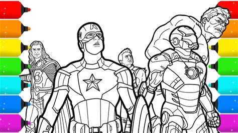the avengers superhero coloring pages for kids youtube
