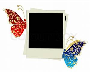 Photo frame design with butterfly decoration | Stock ...